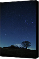 Solitude Canvas Prints - Mt.fuji In Winter Canvas Print by Takeshi.K