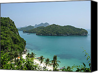 Nawarat Namphon Canvas Prints - Mu Ko Ang Thong Marine National Park Canvas Print by Nawarat Namphon