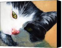 Tuxedo Cat Canvas Prints - Muff Canvas Print by Pat Burns