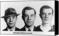 Willie Canvas Prints - Mug Shots Of Willie Sutton 1901-1980 Canvas Print by Everett