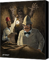 Creepy Canvas Prints - Mummy Awake Canvas Print by Martin Davey