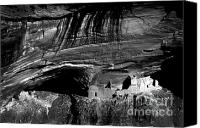 Indian Ruins Canvas Prints - Mummy Cave - BW Canvas Print by Paul W Faust -  Impressions of Light