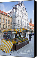 Frauenkirche Canvas Prints - Munich Fruit Seller Canvas Print by Andrew  Michael