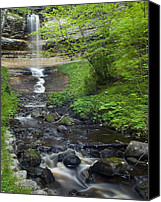 Upper Canvas Prints - Munising Falls Canvas Print by Adam Romanowicz