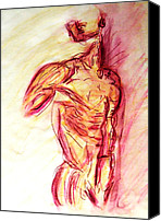 muscled male nude lying on side in classic erotic model pose in watercolor purple and yellow sketch m zimmerman Backseat Sex season is just around the corner with the weather getting ...