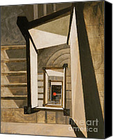Mjonesart Canvas Prints - Museum Stairs Canvas Print by Micheal Jones