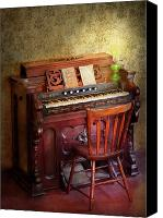 Suburbanscenes Canvas Prints - Music - Organist - Playing the songs of the gospel  Canvas Print by Mike Savad