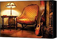 Tables Canvas Prints - Music - String - The chair and the lute Canvas Print by Mike Savad