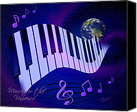 Musical Notes Canvas Prints - Music for the Universe Canvas Print by Judi Quelland