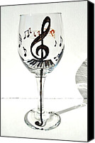 Music Glass Art Canvas Prints - Music Glass Canvas Print by Pauline Ross