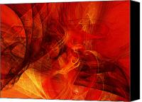 Fine Art Fractal Art Canvas Prints - Music In Motion Canvas Print by Andee Photography