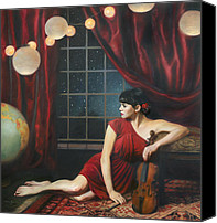 Starry Painting Canvas Prints - Music of the Spheres Canvas Print by Anna Bain