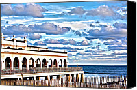 Kevin Sherf Canvas Prints - Music Pier Canvas Print by Kevin  Sherf