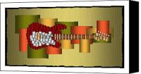 All Canvas Prints - Music Series Horizontal Guitar Abstract Canvas Print by Terry Mulligan
