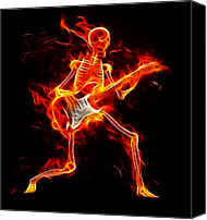 On Fire Canvas Prints - Music to the Death Canvas Print by Pamela Johnson