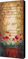 Sax Art Painting Canvas Prints - Musical Garden part 1 of 2 Canvas Print by Christopher Clark