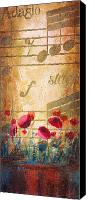 Sax Art Painting Canvas Prints - Musical Garden part 2 of 2 Canvas Print by Christopher Clark