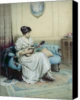 Strum Canvas Prints - Musical interlude Canvas Print by William Kay Blacklock