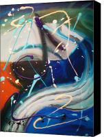 Musicos Canvas Prints - Musicos Canvas Print by Ron Gamble