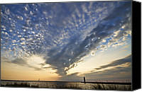 Marquette Digital Art Canvas Prints - Muskegon Channel Cloud Show Canvas Print by Joe Gee