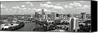 Austin Skyline Canvas Prints - My Austin Skyline in black and white Canvas Print by James Granberry