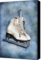 Skates Canvas Prints - My first pair of skates Canvas Print by Renee Dawson