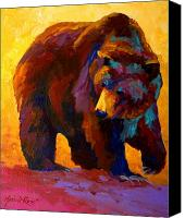 Forest Canvas Prints - My Fish - Grizzly Bear Canvas Print by Marion Rose