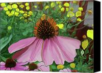 Cone Flowers Canvas Prints - My Garden 2 Abstract Canvas Print by Ernie Echols