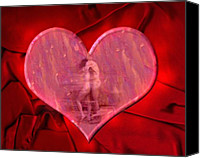 Couples Digital Art Canvas Prints - My Hearts Desire 2 Canvas Print by Kurt Van Wagner