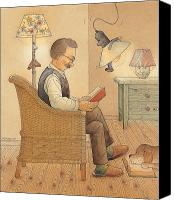 Reading Canvas Prints - My Lamp Canvas Print by Kestutis Kasparavicius