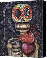 Dead Canvas Prints - My Sacred Heart Canvas Print by  Abril Andrade Griffith