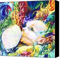 Colored Pencil Canvas Prints - My Soul Canvas Print by Kd Neeley