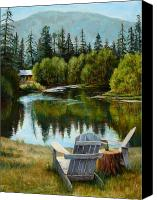 Cabin Canvas Prints - My Space Canvas Print by Mary Giacomini
