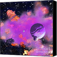 2hivelys Art Canvas Prints - My Space Canvas Print by Methune Hively