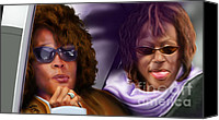 Singer Painting Canvas Prints - Myself and I - Whitney Canvas Print by Reggie Duffie