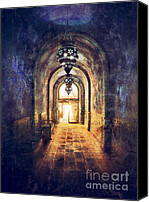Eerie Canvas Prints - Mysterious Hallway Canvas Print by Jill Battaglia