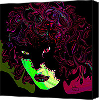 Eye Ball Canvas Prints - Mysterious Masquerade Canvas Print by Natalie Holland