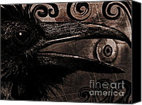 Ravens Canvas Prints - Mystery and Magic Canvas Print by Tisha McGee