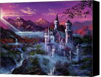 Most Liked Canvas Prints - Mystery Castle Canvas Print by David Lloyd Glover
