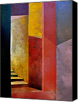 Cubism Canvas Prints - Mystery Stairway Canvas Print by Michelle Calkins