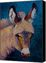 Donkey Painting Canvas Prints - Mystic - Burro Canvas Print by Marion Rose