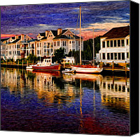Bright Colors Canvas Prints - Mystic CT Canvas Print by Sabine Jacobs