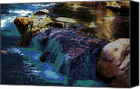 Digiart Canvas Prints - Mystical Springs Canvas Print by DigiArt Diaries by Vicky Browning