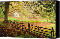 New England Canvas Prints - Mystique - A Connecticut Autumn scenic Canvas Print by Thomas Schoeller