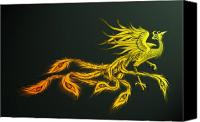 Flames Canvas Prints - Myths Ablaze Canvas Print by Simon Sturge