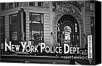 New York City Police Canvas Prints - N Y P D Canvas Print by Gwyn Newcombe
