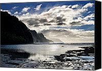 Island Photo Canvas Prints - Na Pali Coast Kauai Hawaii Canvas Print by Brendan Reals