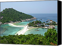 Nawarat Namphon Canvas Prints - Nangyuan Island Canvas Print by Nawarat Namphon