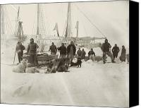 Pioneers Canvas Prints - Nansen Prepares To Leave The Fram Canvas Print by National Library of Norway