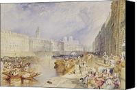 Watercolor On Paper Canvas Prints - Nantes Canvas Print by Joseph Mallord William Turner
